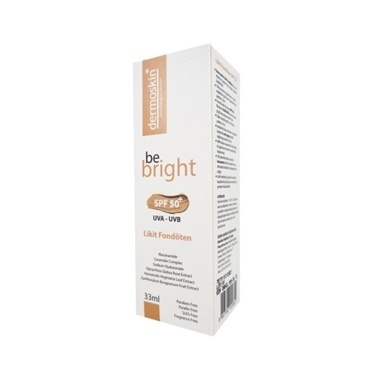 Dermoskin  Be Bright SPF50+ Likit Fondöten Medium 33ml Renksiz